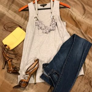 Cynthia Steffe tank top with built in necklace